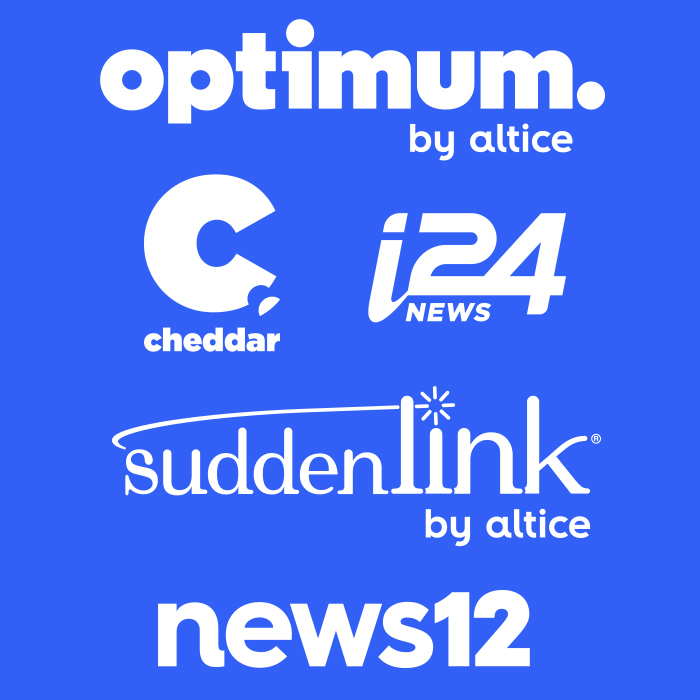 Targeting Optimum by Altice, Suddenlink, News 12, Cheddar and i24.