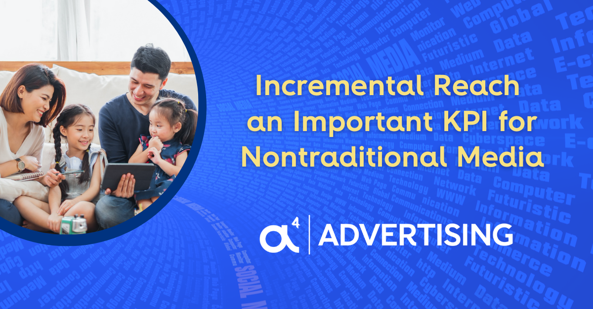 incremental reach an important KPI for nontraditional media